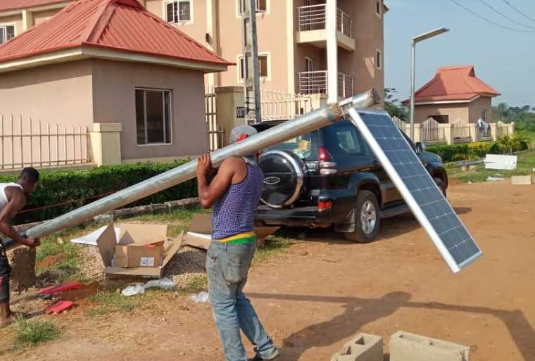 Solar street lighting in school nigeria
