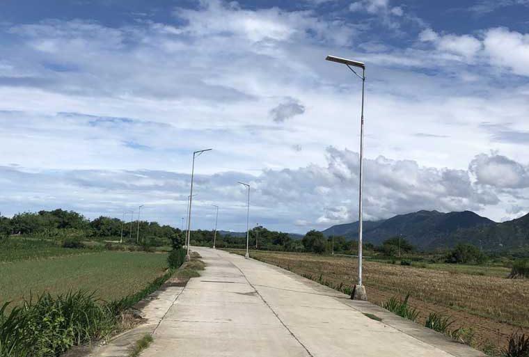 Solar street light project in Cebu Philippine